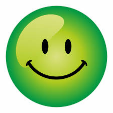 green happy face