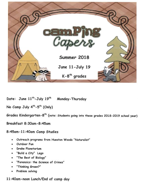 Camping Capers 2018